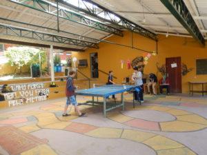 Espaço de convivência dos alunos, onde ocorrem as Assembléias Semanais.